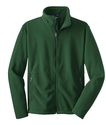 Forest Green Port Authority Youth Value Fleece Jacket as seen from the front