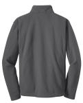 Iron Grey Port Authority Youth Value Fleece Jacket as seen from the back