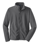 Iron Grey Port Authority Youth Value Fleece Jacket as seen from the front
