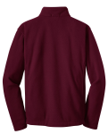 Maroon Port Authority Youth Value Fleece Jacket as seen from the back