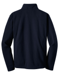 True Navy Port Authority Youth Value Fleece Jacket as seen from the back