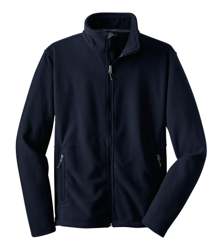 True Navy Port Authority Youth Value Fleece Jacket as seen from the front