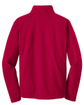 True Red Port Authority Youth Value Fleece Jacket as seen from the back