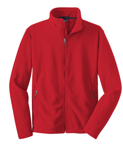 True Red Port Authority Youth Value Fleece Jacket as seen from the front
