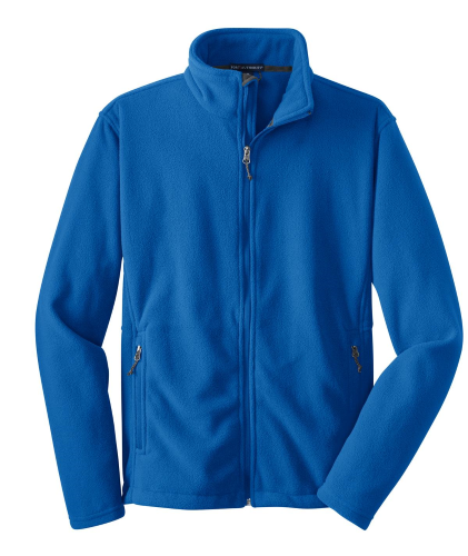 True Royal Port Authority Youth Value Fleece Jacket as seen from the front
