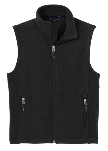 Black Port Authority Youth Value Fleece Vest as seen from the front