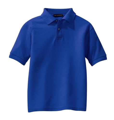 Royal Port Authority Youth Silk Touch Polo as seen from the front