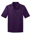 Bright Purple Port Authority Youth Silk Touch Performance Polo as seen from the front