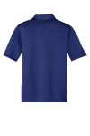 Royal Port Authority Youth Silk Touch Performance Polo as seen from the back