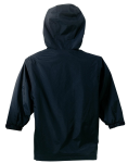 Bright Navy Port Authority Youth Team Jacket as seen from the back