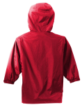 Red Port Authority Youth Team Jacket as seen from the back