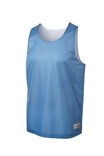 Carolina Bl Wh Sport-Tek Youth PosiCharge Classic Mesh ™ Reversible Tank as seen from the front