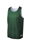 Forest Grn Wh Sport-Tek Youth PosiCharge Classic Mesh ™ Reversible Tank as seen from the front