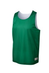 Kelly Green Wh Sport-Tek Youth PosiCharge Classic Mesh ™ Reversible Tank as seen from the front