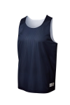 True Navy Wh Sport-Tek Youth PosiCharge Classic Mesh ™ Reversible Tank as seen from the front