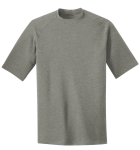 Heather Grey Sport-Tek Youth Ultimate Performance Crew as seen from the front