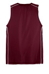 Maroon White Sport-Tek Youth PosiCharge Mesh Reversible Sleeveless Tee as seen from the back
