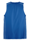 True Royal Wht Sport-Tek Youth PosiCharge Mesh Reversible Sleeveless Tee as seen from the back