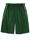 Forest Grn Wht Sport-Tek Youth PosiCharge Mesh Reversible Spliced Short as seen from the back