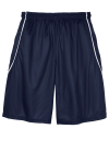 True Navy Wht Sport-Tek Youth PosiCharge Mesh Reversible Spliced Short as seen from the back